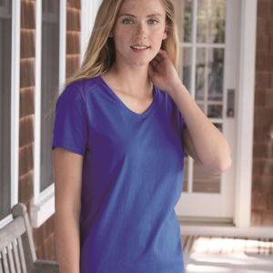 Women's Tagless V-Neck T-Shirt Thumbnail